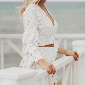 Saylor NY Lace White Set